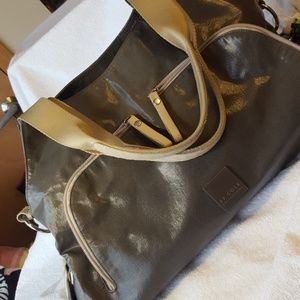 JJ COLE Collections diaper bag metallic gray/brown
